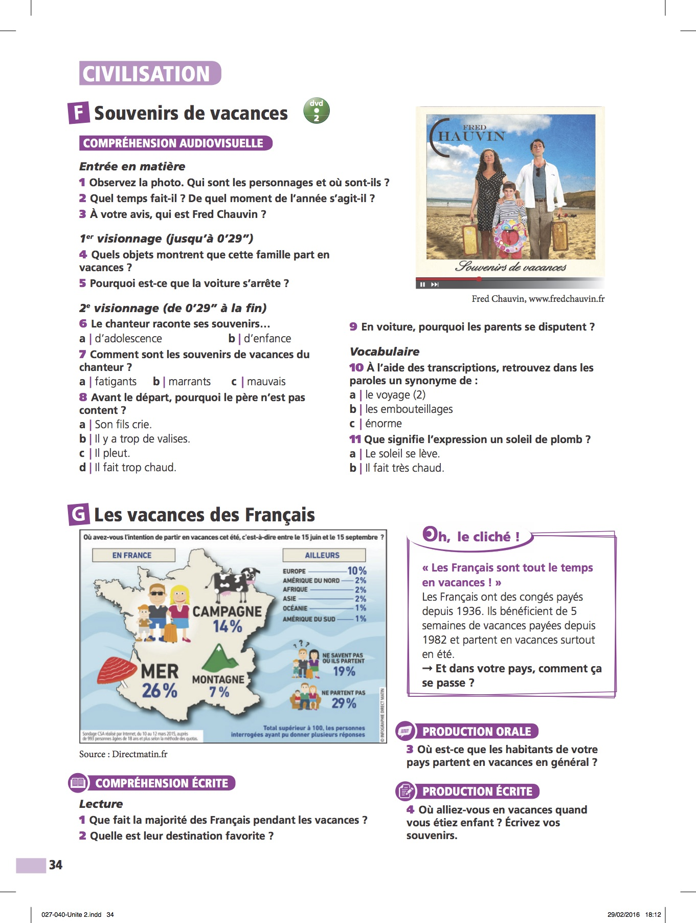 Fred Chauvin Edito A2 Francais Langue Etrangere